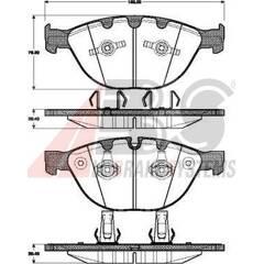 Front brake pad set (4 pcs) A.B.S. - 37463