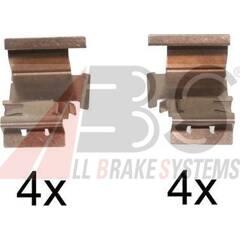 Kit d'accessoires (plaquette de frein) A.B.S. - 1298Q