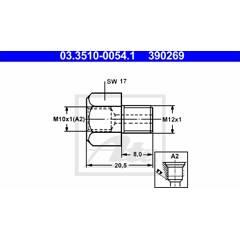 Adaptateur (conduite de frein) ATE - 03.3510-0054.1