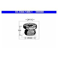 Bouchon (filtre déshydratant liquide de frein) ATE - 03.3304-1400.1