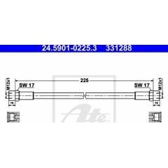 Clutch Hose ATE - 24.5901-0225.3