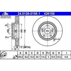 Brake disc set (2) ATE - 24.0126-0156.1
