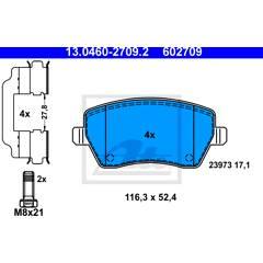 Jeu de 4 plaquettes de frein à disque ATE - 13.0460-2709.2