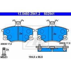 Jeu de 4 plaquettes de frein à disque ATE - 13.0460-2941.2