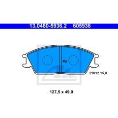 Jeu de 4 plaquettes de frein à disque ATE - 13.0460-5936.2