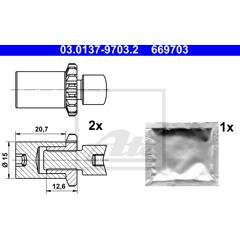 Kit d'accessoires (mâchoires de frein de stationnement) ATE - 03.0137-9703.2