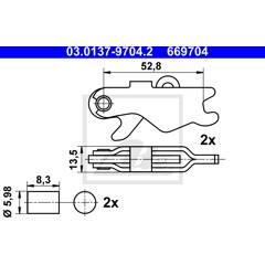 Kit d'accessoires (mâchoires de frein de stationnement) ATE - 03.0137-9704.2