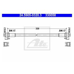 Tuyau d'embrayage ATE - 24.5905-0320.3