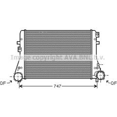 Intercooler, charger AVA QUALITY COOLING - VNA4227