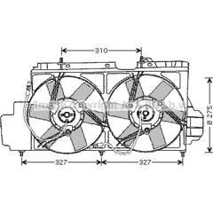Ventilateur (refroidissement moteur) AVA QUALITY COOLING  - CN7520
