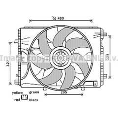 Ventilateur (refroidissement moteur) AVA QUALITY COOLING  - MS7522