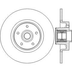 Disque de frein (à l'unité) BENDIX - 562378B
