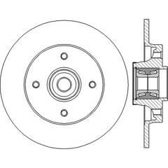 Brake disc (per unit) BENDIX - 562373B