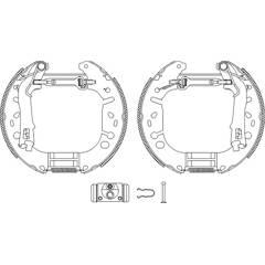 Brake Set, drum brakes BOLK - BOL-G091155