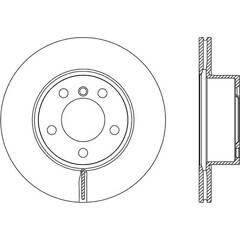 Disque de frein (à l'unité) BOLK - BOL-I010312