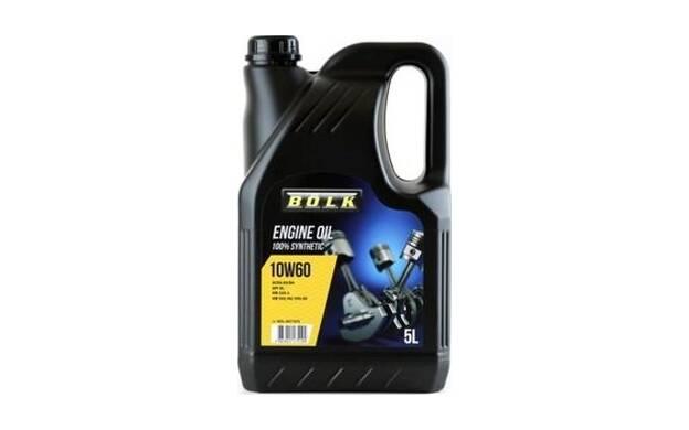 Engine Oil BOLK 10W60 - 5 Liters