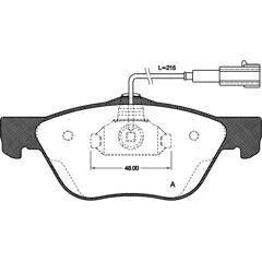 Front brake pad set (4 pcs) BOLK - BOL-I010363