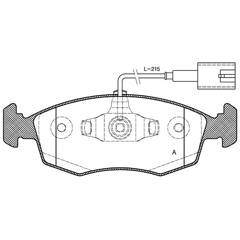 Jeu de 4 plaquettes de frein à disque BOLK - BOL-I010366