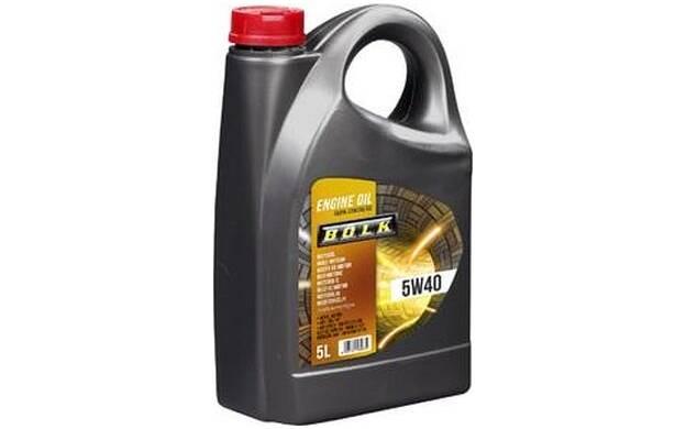 Motorolie BOLK 5W40 - 5 Liter