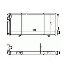 Radiator, engine cooling BOLK - 17085010