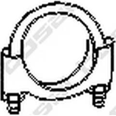 Kit d'assemblage (silencieux) BOSAL - 250-260