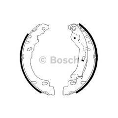 Brake Shoe Set BOSCH - 0 986 487 704