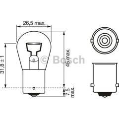 Bulb P21W Pure Light BOSCH - 1 987 302 201