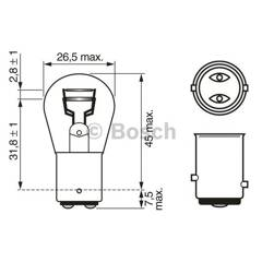 Bulb P21/5W Pure Light BOSCH - 1 987 302 202