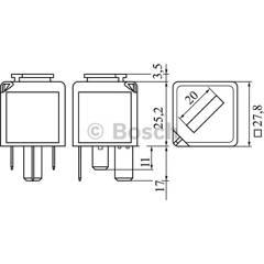 Control Unit, glow plug system BOSCH - 0 986 332 050