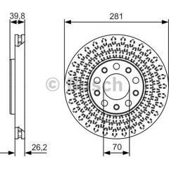 Jeu de 2 disques de frein BOSCH - 0 986 479 C42