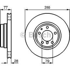 Brake disc (sold individually) BOSCH - 0 986 478 622