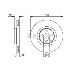 Brake disc (sold individually) BOSCH - 0 986 479 395