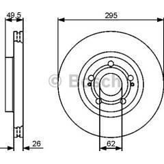 Brake disc set (2) BOSCH - 0 986 479 454