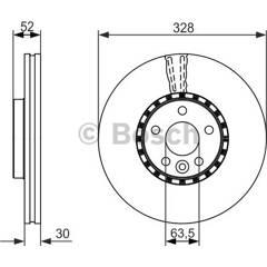 Brake disc (sold individually) BOSCH - 0 986 479 621