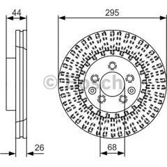 Brake disc (sold individually) BOSCH - 0 986 479 D16