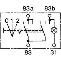 Interrupteur (feu antibrouillard) BOSCH - 0 340 006 004