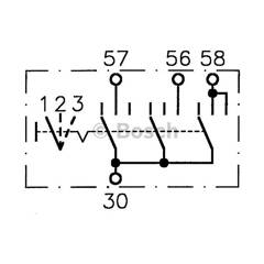 Interrupteur (lumière principale) BOSCH - 0 986 340 120
