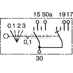 Interrupteur (préchauffage) BOSCH - 0 342 315 001