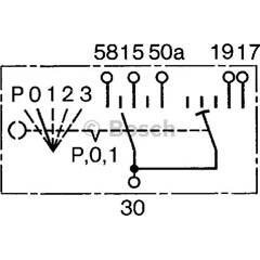 Interrupteur (préchauffage) BOSCH - 0 342 316 003