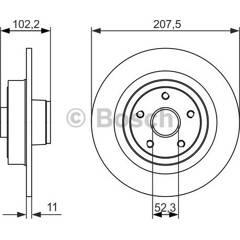 Brake disc (sold individually) BOSCH - 0 986 479 724