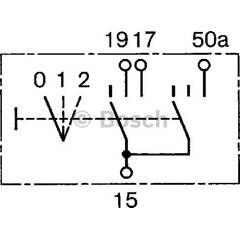 Switch, preheating system BOSCH - 0 343 008 006