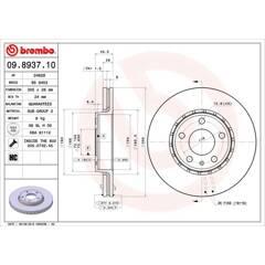 Brake disc set (2) BREMBO - 09.8937.10