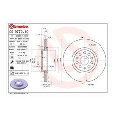 Brake disc set (2) BREMBO - 09.9772.11