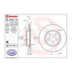 Brake disc (sold individually) BREMBO - 09.A402.11