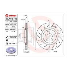 Brake disc (sold individually) BREMBO - 09.A448.21