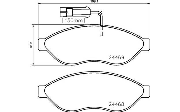 Front brake pad set (4 pcs)