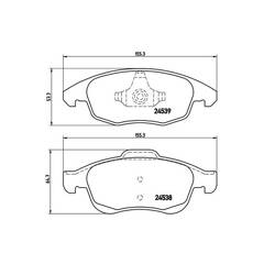 Brake Pad Set BREMBO - P 61 083