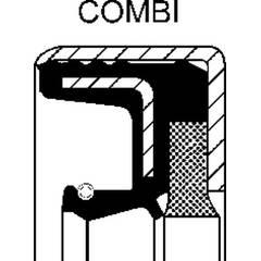 Bague d'étanchéité (mâchoire de frein) CORTECO - 01034657B