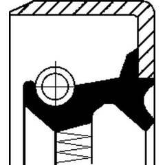 Shaft Seal, wheel hub CORTECO - 19036492B