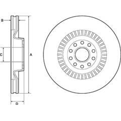 Brake disc (sold individually) DELPHI - BG9957